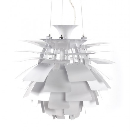 Lampe à suspension design AMYTIS en métal (blanc)