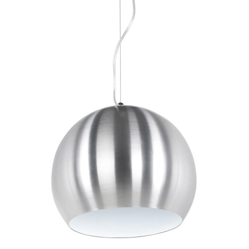 Lampe à suspension design ARGUS en métal (acier brossé) - image 17344