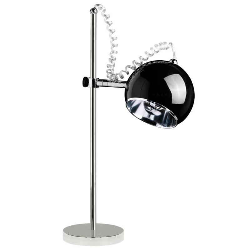Lampe de table design BATARA en métal (noir)