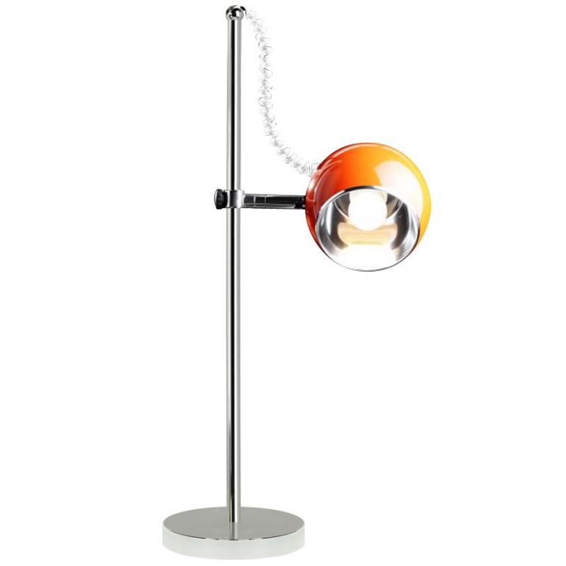 Lampe de table design BATARA en métal (orange) - image 17360
