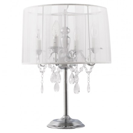 Design table BARGE metal lamp (white)