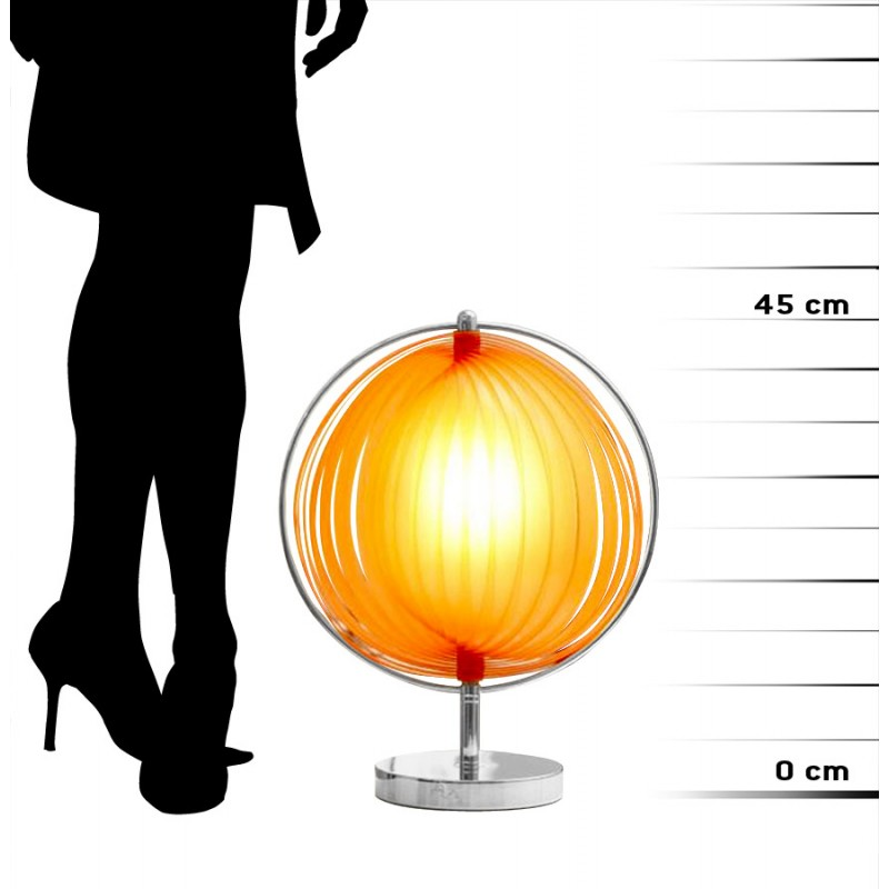 BECHE SMALL metal design table lamp (orange) - image 17400