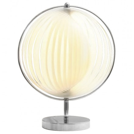 Lampe de table design BECHE SMALL en métal (blanc)