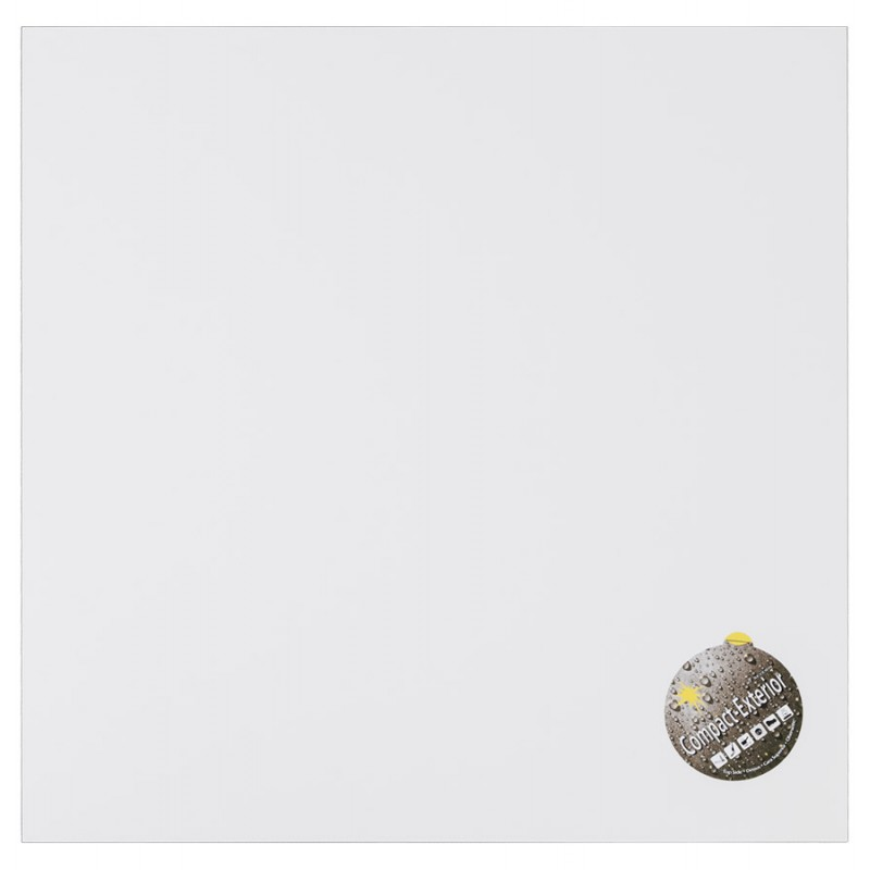 Plateau de table carré VERA en polymère (60cmX60cmX3cm) (blanc)