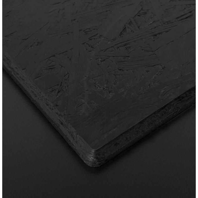 Plateau de table LILAS carré en polymère (68cmX68cmX3cm) (noir) - image 17450