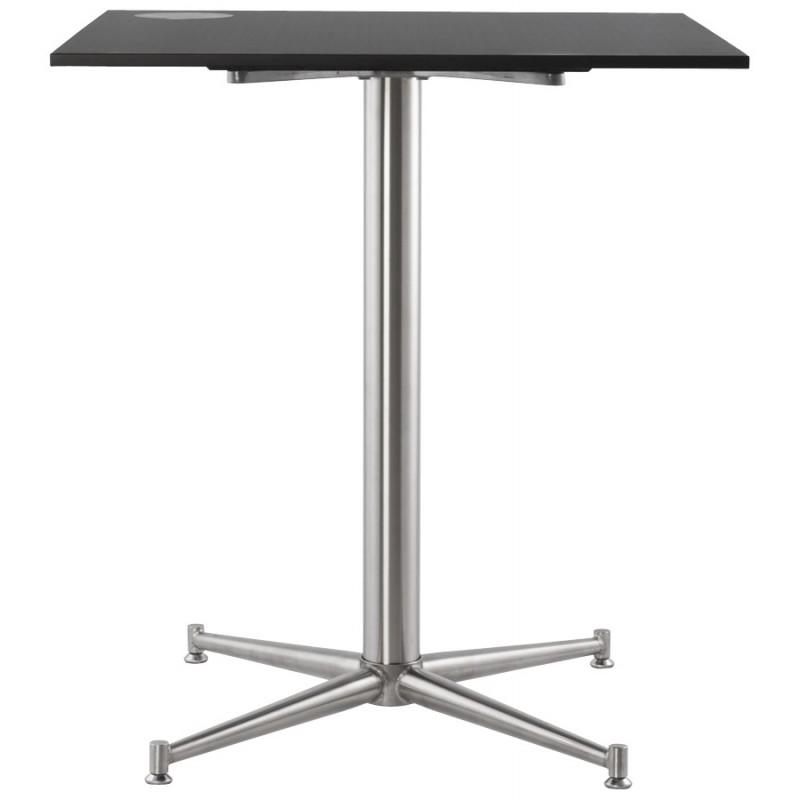 Plateau de table LILAS carré en polymère (68cmX68cmX3cm) (noir) - image 17454