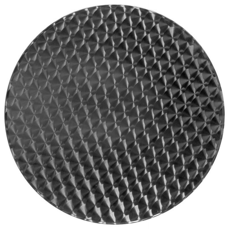 Plateau de table ISA rond en bois et acier inoxydable (60cmX60cmX2cm)