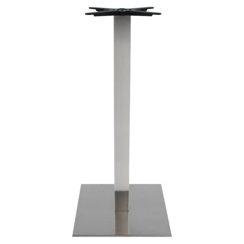 Pied de table WIND carré sans plateau en acier brossé (50cmX50cmX110cm) (acier) - image 17627