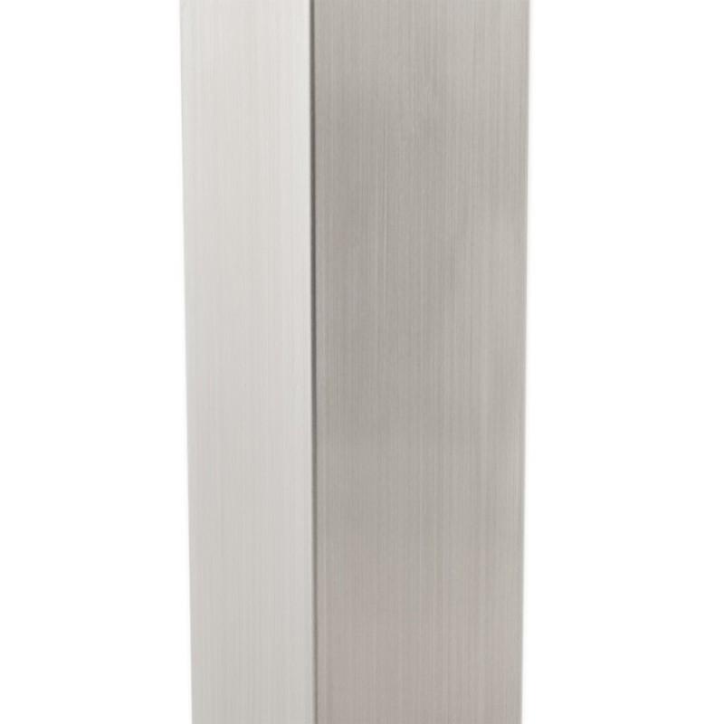 Pied de table WIND carré sans plateau en acier brossé (50cmX50cmX110cm) (acier) - image 17629