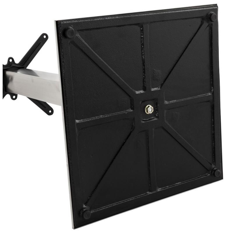 Pied de table WIND carré sans plateau en acier brossé (50cmX50cmX110cm) (acier) - image 17633
