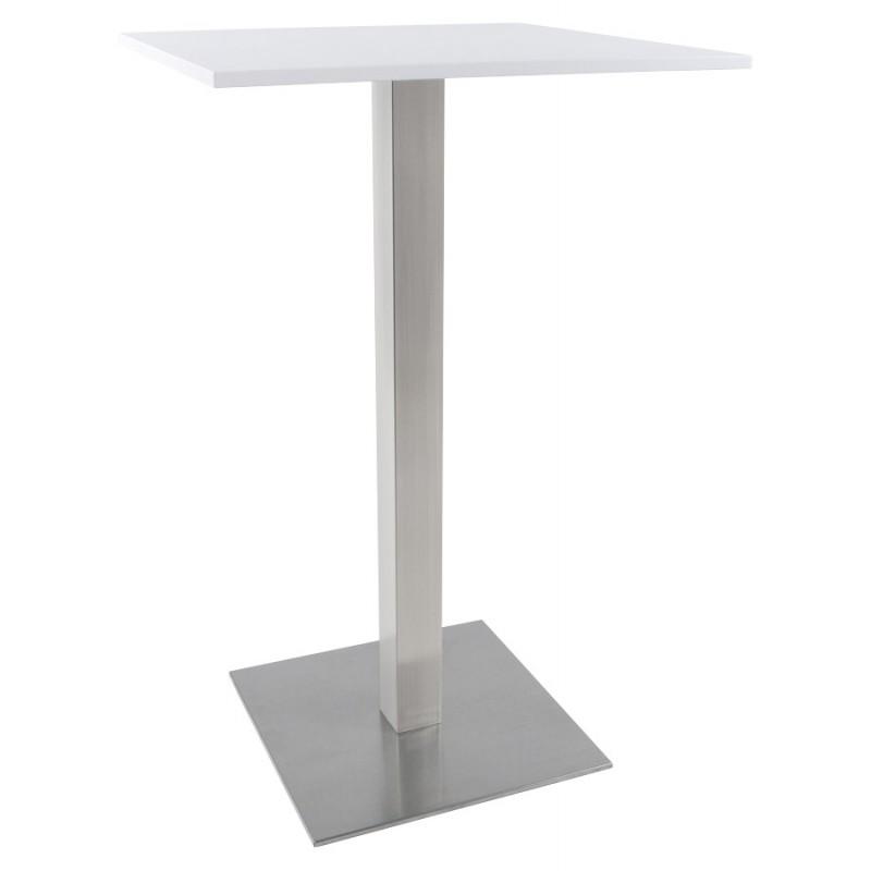 Pied de table WIND carré sans plateau en acier brossé (50cmX50cmX110cm) (acier) - image 17637