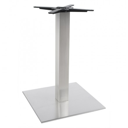 WIND square table leg without tray in brushed metal (50cmX50cmX73cm) (steel)