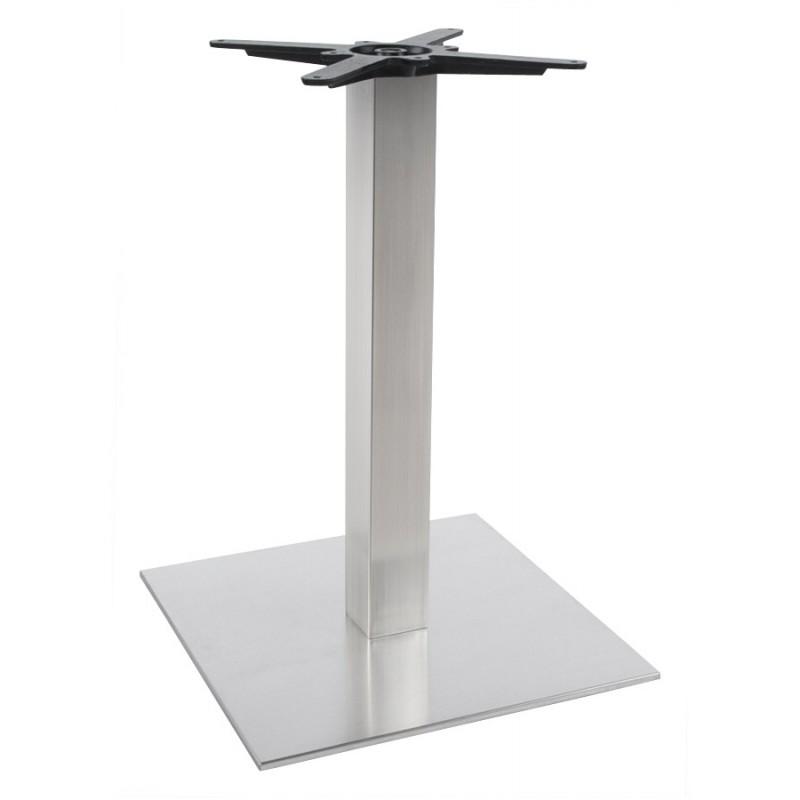 Piede da tavolo WIND quadrato senza ripiano in acciaio spazzolato (50cmX50cmX73cm) (acciaio)