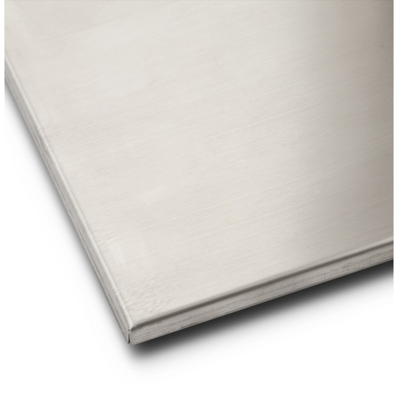 Pied de table WIND carré sans plateau en acier brossé (50cmX50cmX73cm) (acier) - image 17643