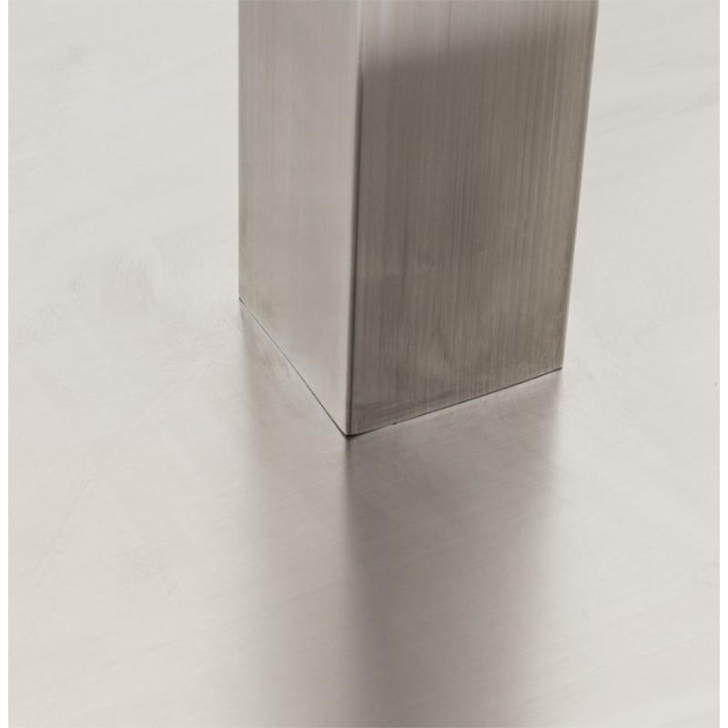 Pied de table WIND carré sans plateau en acier brossé (50cmX50cmX73cm) (acier) - image 17644