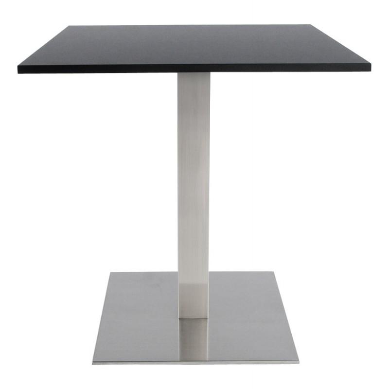 Pied de table WIND carré sans plateau en acier brossé (50cmX50cmX73cm) (acier) - image 17649