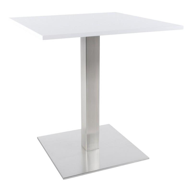 Pied de table WIND carré sans plateau en acier brossé (50cmX50cmX73cm) (acier) - image 17650