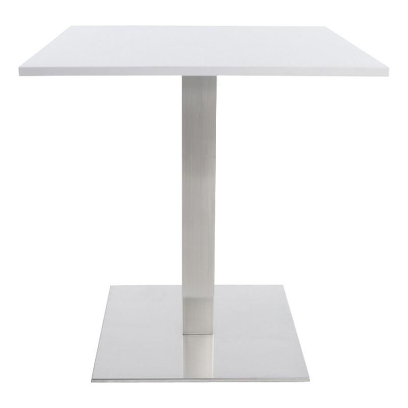 Pied de table WIND carré sans plateau en acier brossé (50cmX50cmX73cm) (acier) - image 17651