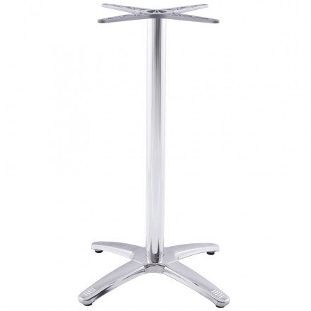Table leg AUTAN shape Cross chromed metal (63cmX63cmX110cm) (aluminium)
