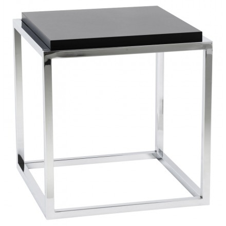 KVADRA side table wooden or derived (black)