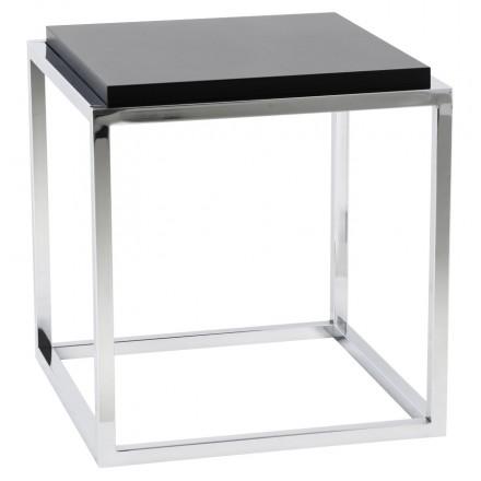 Table d'appoint KVADRA en bois ou dérivé (noir)