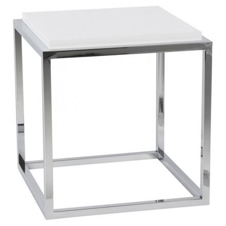 KVADRA tavolino in legno o derivato (bianco)