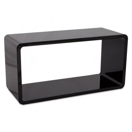Tavolino legno (MDF) laccato RECTO (nero)