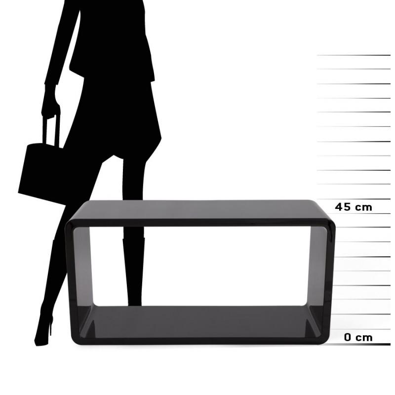 Mesa de centro madera RECTO (MDF) lacado (negro) - image 17868