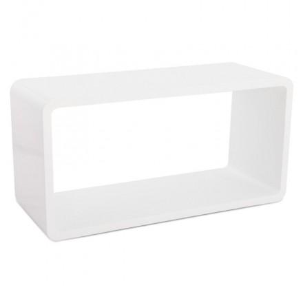 Tavolino laccato RECTO legno (MDF) (bianco)