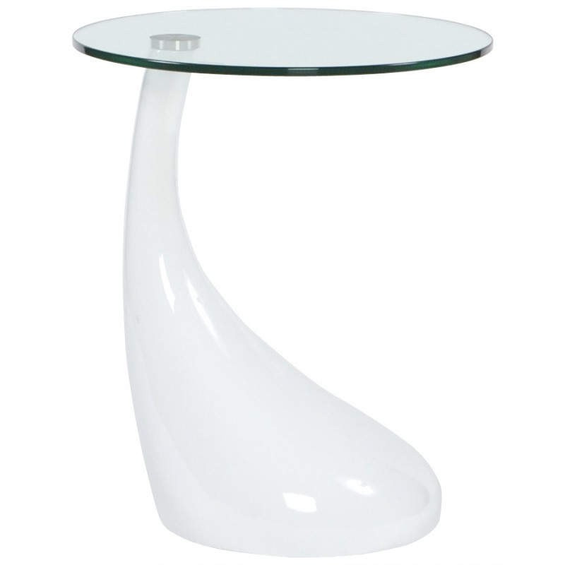 Fiberglass Console Table ~ Console or table tarn tempered fiberglass white