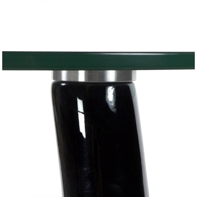 Consola o mesa TEAR de fibra de vidrio templado (negro) - image 17973