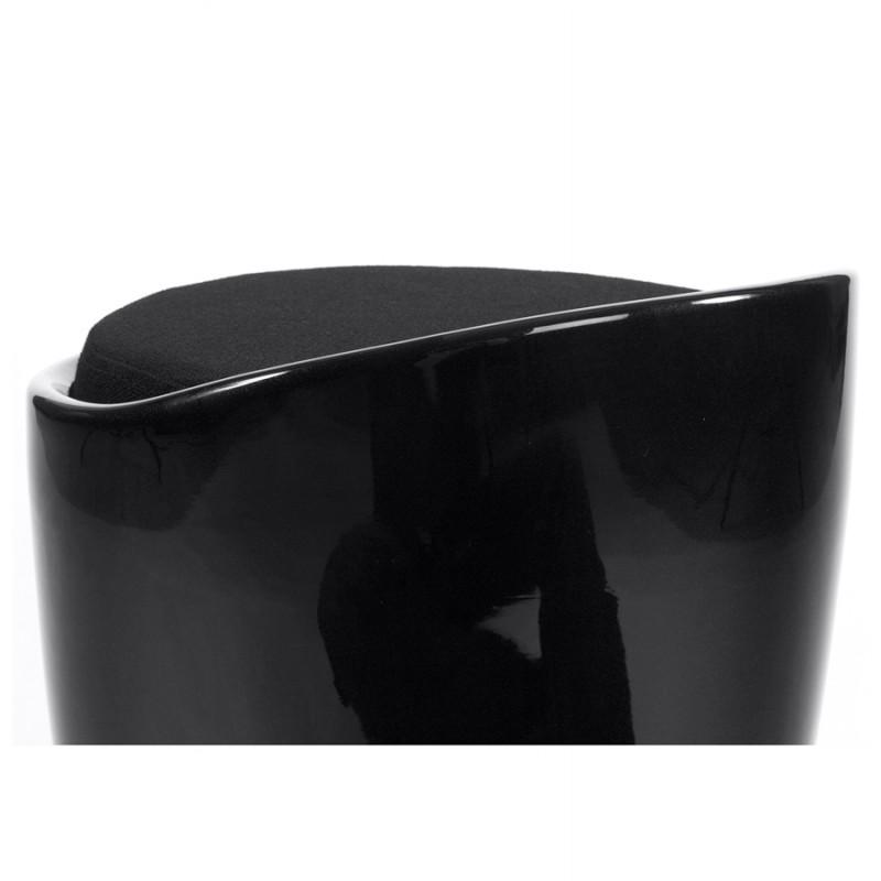 Tabouret coffre YONNE en ABS (matière plastique résistante) (noir) - image 18018