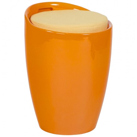 Stool trunk YONNE ABS (resistant plastic material) (orange)