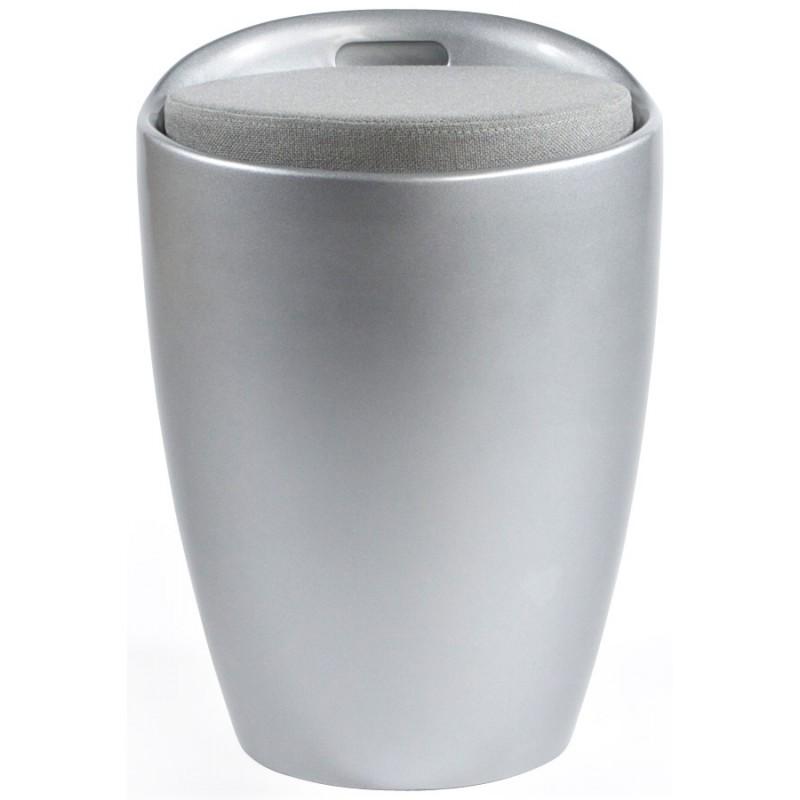 Tabouret coffre YONNE en ABS (matière plastique résistante) (argent) - image 18039