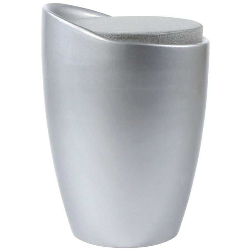 Tabouret coffre YONNE en ABS (matière plastique résistante) (argent) - image 18040