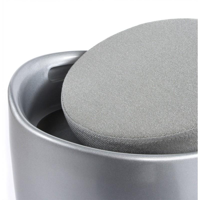 Tabouret coffre YONNE en ABS (matière plastique résistante) (argent) - image 18044