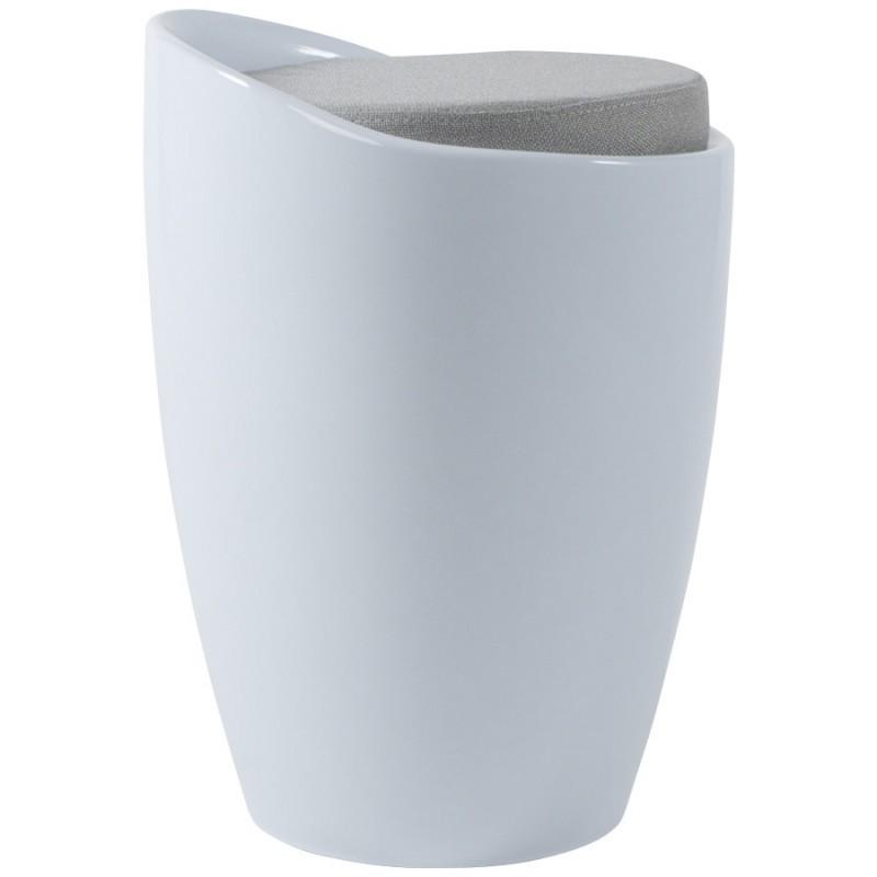 Tabouret coffre YONNE en ABS (matière plastique résistante) (blanc) - image 18048
