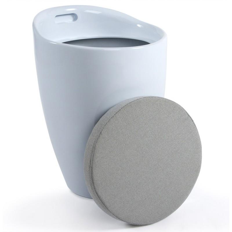 Tabouret coffre YONNE en ABS (matière plastique résistante) (blanc) - image 18053