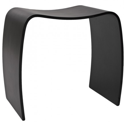 Low stool MEUSE wooden painted (black)