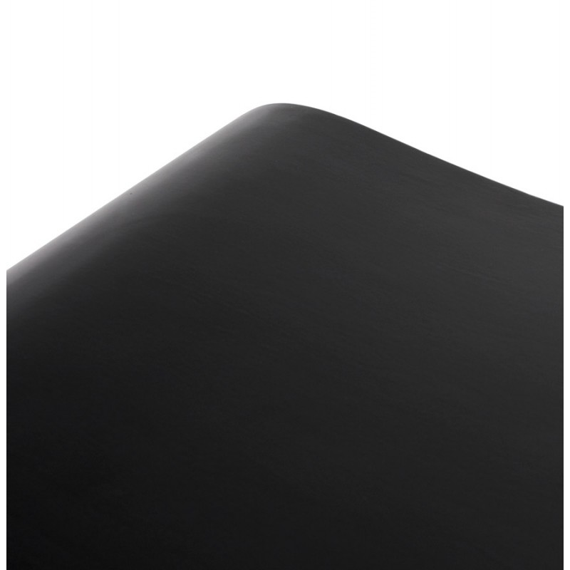 Hocker MEUSE aus Holz lackiert (schwarz) - image 18058