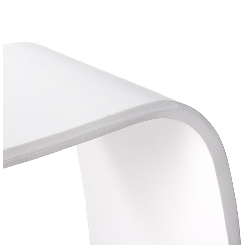 Low stool MEUSE wooden painted (white) - image 18062