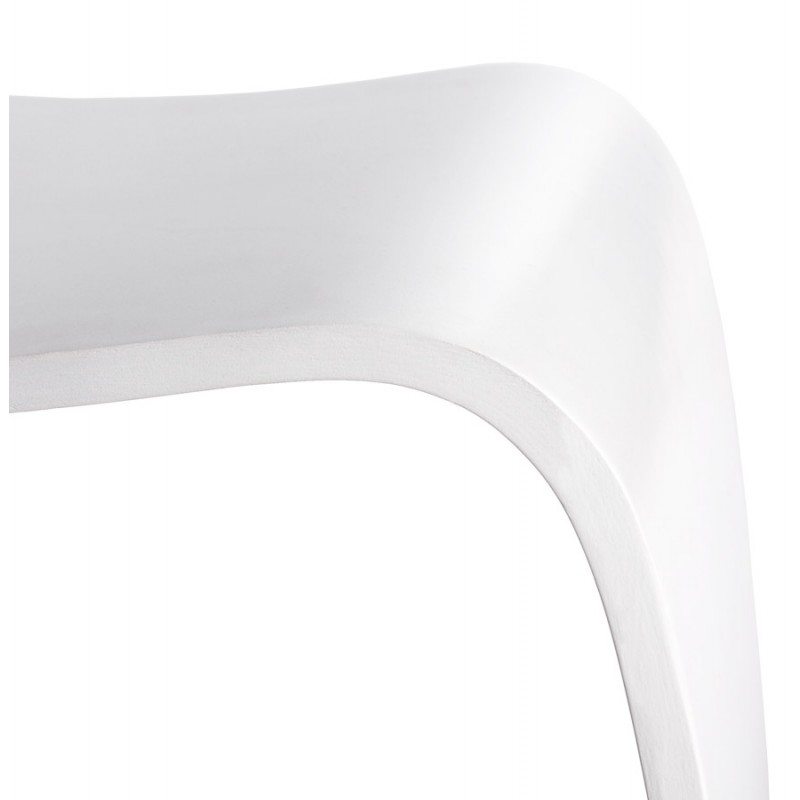 Low stool MEUSE wooden painted (white) - image 18063