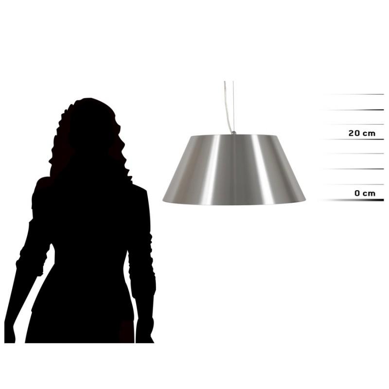 Lampe suspendue BARE en métal (argent) - image 18088