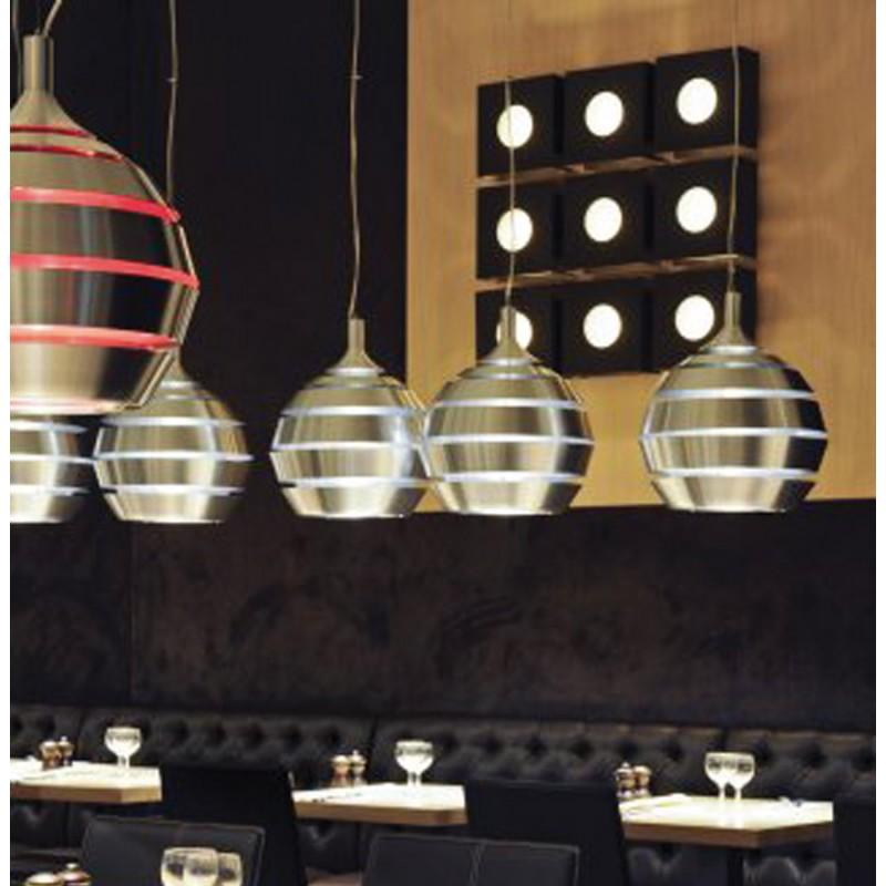 Lampe suspendue design TROGON en métal (argent) - image 18106