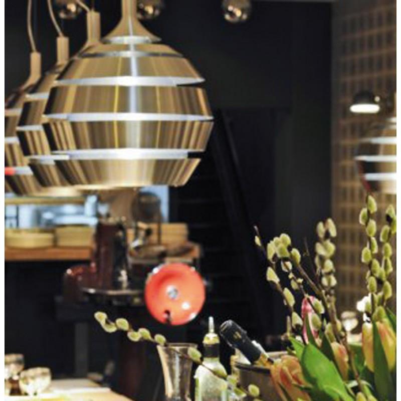 Lampe suspendue design TROGON en métal (argent) - image 18107