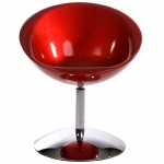 Armchair LOIRE design sphere in ABS (red)