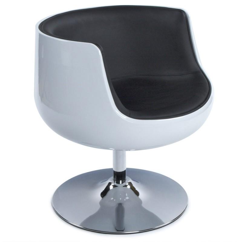 Fauteuil design TARN rotatif (noir et blanc) - image 18256