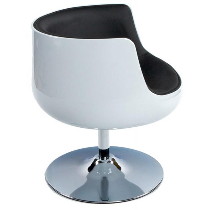 Fauteuil design TARN rotatif (noir et blanc) - image 18258