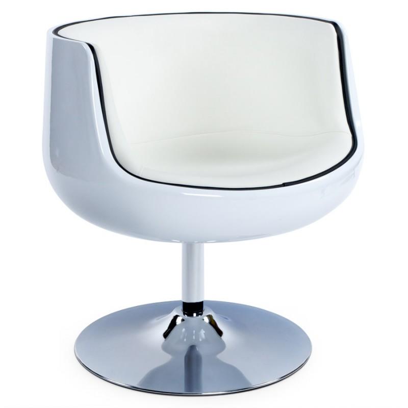 Fauteuil design TARN rotatif (blanc) - image 18262