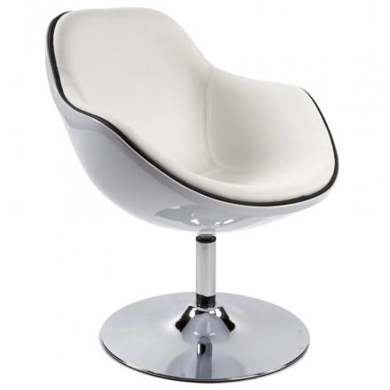 Design-Sessel Dreh RHONE (weiß)